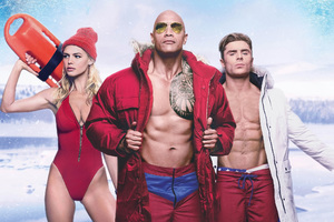 Baywatch Zac Efron Dwayne Johnson And Kelly Rohrbach
