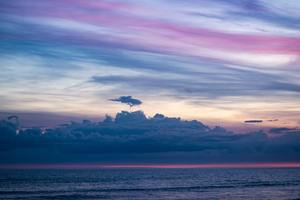Beach Clouds Ocean Sky Wallpaper