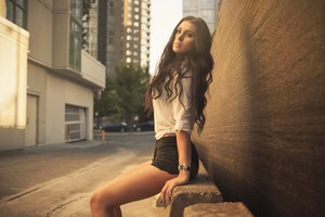 Beautiful Brunette Girl Photography