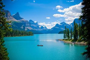 Beautiful Clear Blue Lake