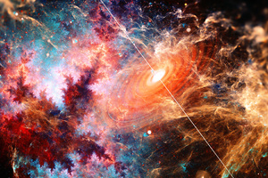 Beautiful Galaxy Fractal Art Wallpaper