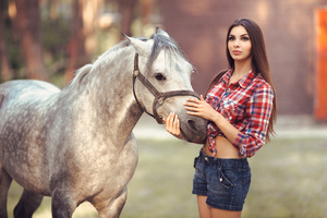 Beautiful Girl With Horse 4k