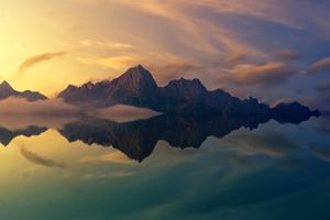 Beautiful Mountains Clear Reflection In Water Wallpaper