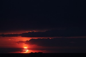 Beautiful Sunset Dark 4k Wallpaper
