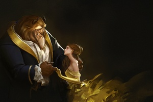 Beauty And The Beast Artwork Wallpaper
