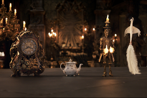 Beauty And The Beast Movie Cogsworth Mrs Potts Lumiere Wallpaper