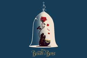 Beauty And The Beast Poster Artwork Wallpaper