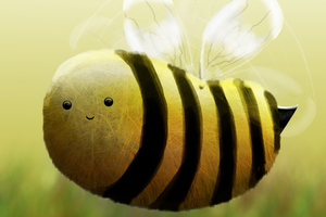 Bee Illustration Wallpaper