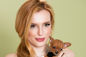 Bella Thorne With Dog