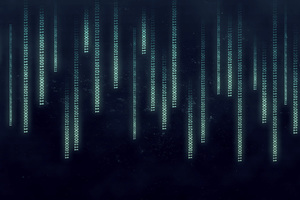 Binary Code Minimalism Abstract Wallpaper