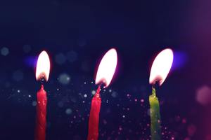 Birthday Candle Lights 4k Wallpaper