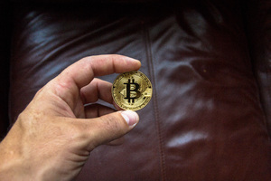 Bitcoin Coin In Person Hand Wallpaper