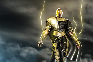 Black Adam Shazam Wallpaper