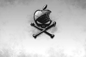 Black Apple Skull
