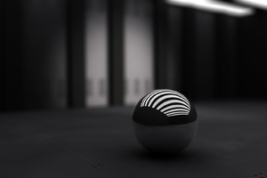 Black Ball With White Bands Wallpaper