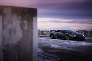 Black Lamborghini Huracan 2018 Wallpaper