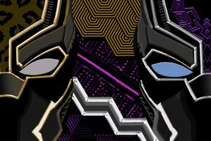 Black Panther And Erik Killmonger Artwork 4k
