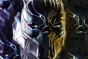 Black Panther And Erik Killmonger Behance Wallpaper