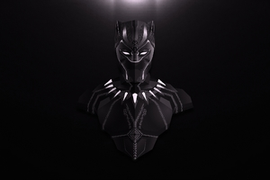Black Panther Lowpoly Minimalist Wallpaper