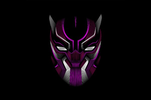Black Panther Mask Minimalism 4k Wallpaper