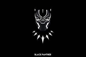 Black Panther Minimal 4k Wallpaper