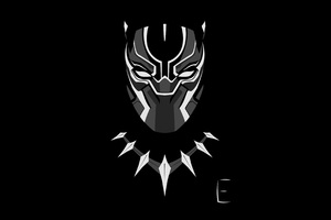 Black Panther Minimalism 4k Wallpaper