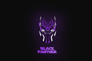 Black Panther Neon 5k Wallpaper