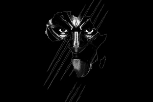 Black Panther Real 3D Poster