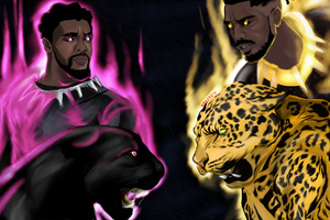 Black Panther Vs Erik Killmonger Wallpaper