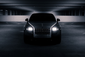 Black Rolls Royce Front Wallpaper