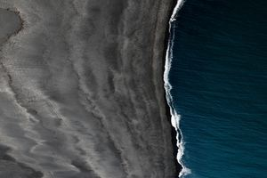 Black Sand Iceland Landscape Space Vik 5k Wallpaper