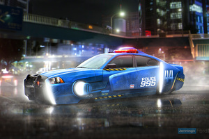 Blade Runner Spinner Dodge Charger Police Car Wallpaper
