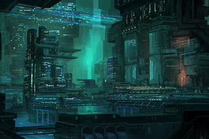 Bladerunner Building Digital Art And Drawing Wallpaper