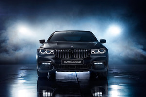 BMW 750i Black Ice Edition 2017 Front Wallpaper