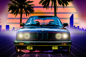 Bmw E30 Digital Art 4k