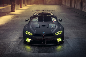 Bmw M8 Gte Angel Lights Modified Wallpaper