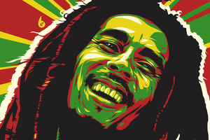 Bob Marley Abstract 4k Wallpaper
