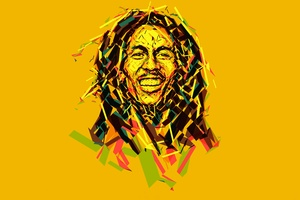 Bob Marley Abstract Artwork 8k Wallpaper