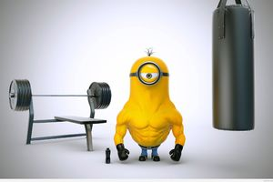 Bodybuilder Minion Wallpaper