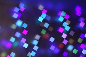 Bokeh Lights Pattern Texture Square Blurred Colorful Wallpaper