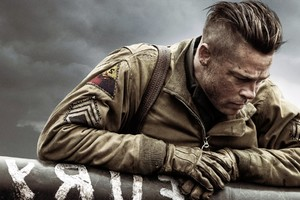 Brad Pitt In Fury Movie Wallpaper