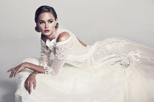 Bridal White Dress Model Wallpaper