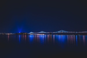 Bridge Night Reflection Wallpaper