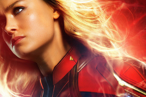 Brie Larson As Carol Danvers In Captain Marvel Wallpaper