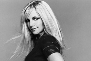Britney Spears Monochrome Wallpaper