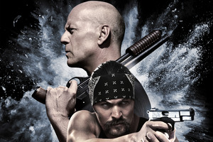 Bruce Willis And Jason Momoa In Once Upon A Time In Venice 4k