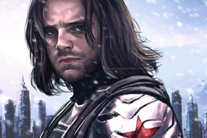 Bucky Barnes The Winter Solider Artwork