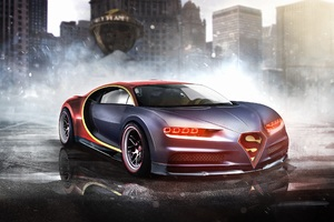 Bugatti Chiron Superman Wallpaper