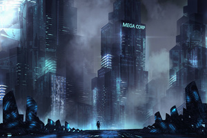 Building Scifi Digital Art Wallpaper