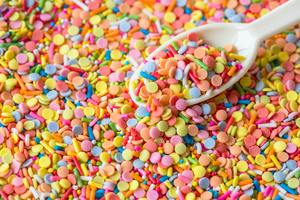 Candies Scoop Colorful Sprinkles Wallpaper